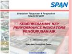 KEBERKESANAN KEY PERFORMANCE INDICATORS PENGURUSAN AIR