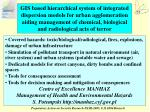 Covered hazards: toxic/biological/radiological, fires, explosions, damage of urban infrastructure