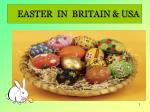 EASTER IN BRITAIN & USA