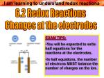 6.2 Redox Reactions Changes at the electrodes