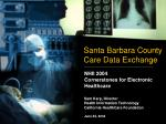 Santa Barbara County Care Data Exchange