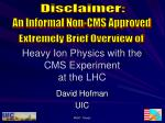 Heavy Ion Physics with the CMS Experiment at the LHC