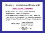 Chapter 5 – Molecules and Compounds