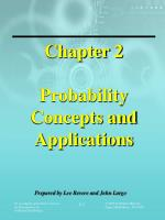Chapter 2 Probability Concepts and Applications