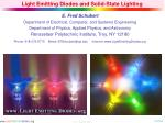 Light Emitting Diodes and Solid-State Lighting
