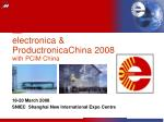 electronica & ProductronicaChina 2008 with PCIM China
