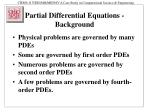 Partial Differential Equations - Background