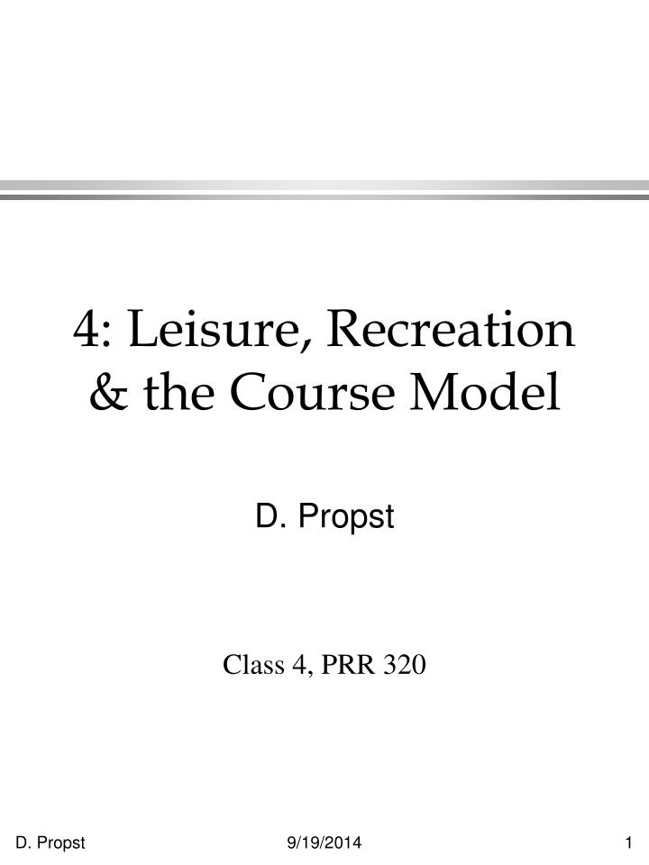 4 leisure recreation the course model n.