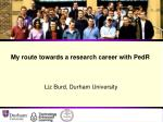 My route towards a research career with PedR
