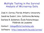 Multiple Testing in the Survival Analysis of Microarray Data