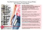 The IFST Professional Food Sensory Group (PFSG)  2011 Student Travel Award