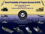 Naval Probability of Program Success (PoPS)