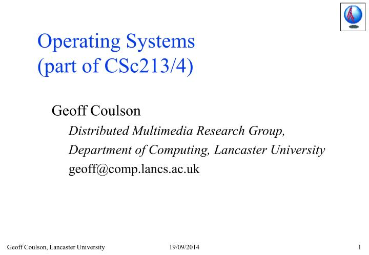 operating systems part of csc213 4 n.