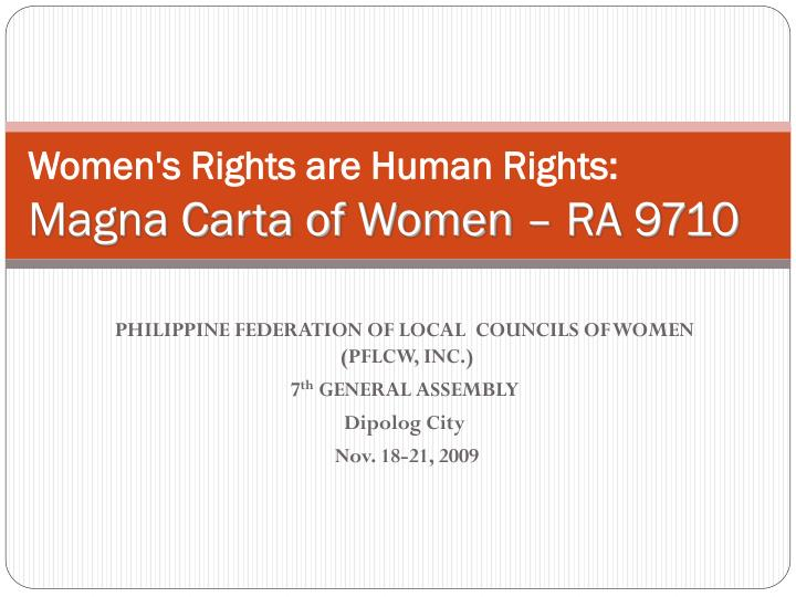 women s rights are human rights magna carta of women ra 9710 n.
