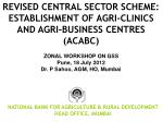 REVISED CENTRAL SECTOR SCHEME:  ESTABLISHMENT OF AGRI-CLINICS AND AGRI-BUSINESS CENTRES (ACABC)