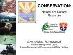 Natural and Cultural Resources