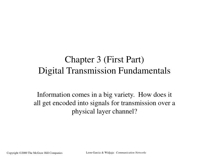 chapter 3 first part digital transmission fundamentals n.