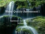 Water Quality Assessment I