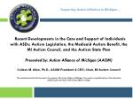 Supporting Autism Initiatives in Michigan…
