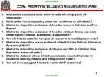 CCIRs: PRIORITY INTELLIGENCE REQUIREMENTS (PIRS)