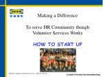 Making a Difference To serve HR Community though Volunteer Services Works HOW TO START UP
