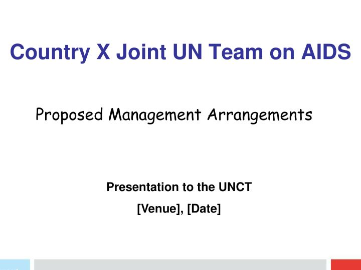 country x joint un team on aids n.