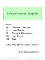 Safety of Aerogel Upgrade