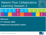 Patient Flow Collaborative Learning Session 2