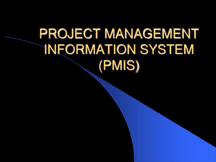 project management information system pmis n.