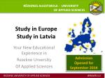 Study in Europe Study in Latvia