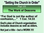 """Setting the Church in Order"""