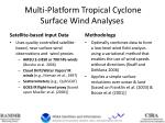 Multi-Platform Tropical Cyclone Surface Wind Analyses