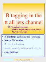 B tagging in the tt all jets channel