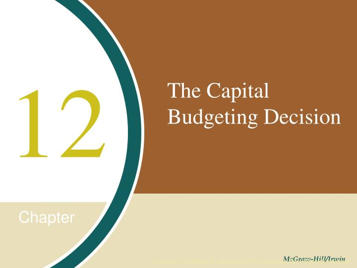 the capital budgeting decision n.