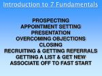 Introduction to 7 Fundamentals