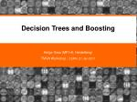Decision Trees and Boosting