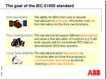 The goal of the IEC 61850 standard
