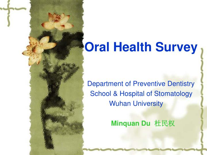 oral health survey n.