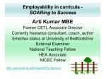 Employability in curricula - SOARing to Success