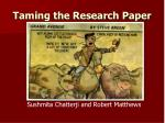 Taming the Research Paper