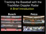 Tracking the Baseball with the TrackMan Doppler Radar