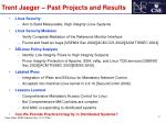 Trent Jaeger – Past Projects and Results