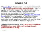 What is IC3