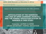 Session # 5B: DISTANCE EDUCATION AND OPEN LEARNING