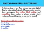 DIGITAL-TO-DIGITAL CONVERSION