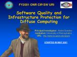 Software Quality and Infrastructure Protection for Diffuse Computing