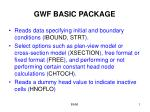 GWF BASIC PACKAGE
