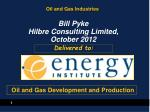 Oil and Gas Industries