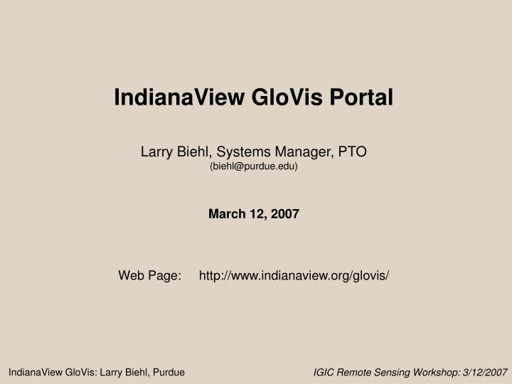 PPT - IndianaView PowerPoint Presentation - ID:4637961