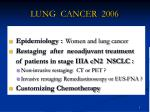LUNG CANCER 2006